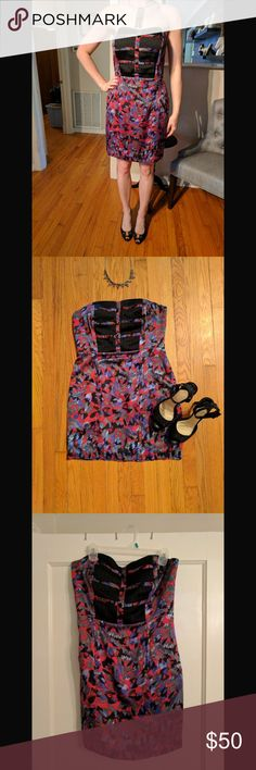 EUC BCBGeneration Cocktail Dress Fun and flirty strapless cocktail dress. Will make heads turn. Great condition 😃 BCBGeneration Dresses