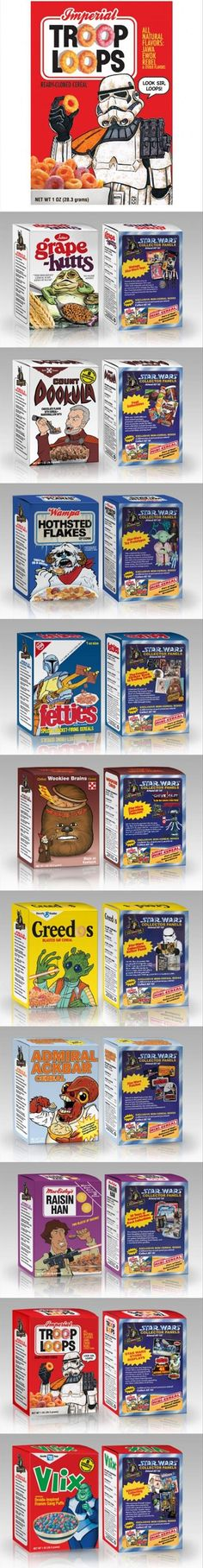 I would buy all of these just because they are Star Wars even though I'm not a big fan of cereal
