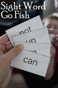Sight Word Go Fish Game by carlani