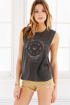 Truly Madly Deeply Moon Stamps Extreme Muscle Tee