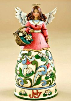 "July Birthday Angel from Jim Shore Heartwood Creek by Enesco.  ""Austin"""