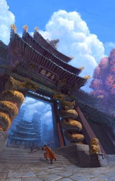 Temple Gate by dea bum Kim on ArtStation.