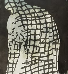 Ari Pelkonen, Technique: woodcut and acrylic on canvas Little Brown, Love Hair, Painting Patterns, Figure Painting, Wood Print, Finland, Printmaking, Contemporary Art, Black And White