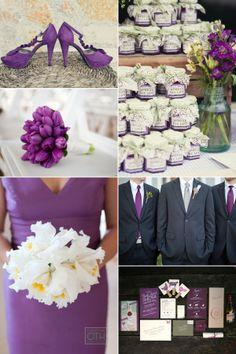 Inspirational Wedding Ideas #151: Purplicious - more inspiration at diyweddingsmag.com