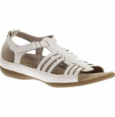 Soft Styles by Hush Puppies White EABY Sandal--Size 8N #SoftStyle #AnkleStrap #WeartoWork