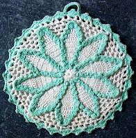 starburst potholder crochet pattern