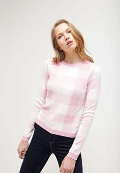 Topshop GINGHAM    - Sweter - pink za 120,45 zł (18.08.16) zamów bezpłatnie na Zalando.pl.