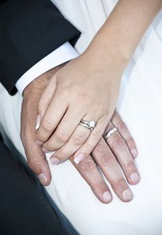 rings, holding hands