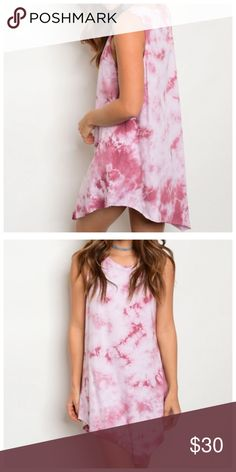 Mauve Tie Dye Dress Super trendy tie dye dress in variations of pink. Perfect for your summer music festivals or laid back summer days. Multiple sizes available.   ✔️NWT ✔️ Fast response  🔹 Multiple sizes available  🔻Not from listed brand | bought from an online boutique ASOS Dresses Mini