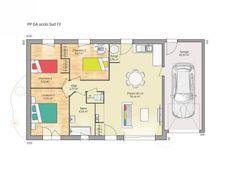Plan de maison Open Nord PP GA accès Sud 73 so chic : Vignette 1 Garage, Open Source, Good Company, Vignettes, House Plans, Floor Plans, Chic, How To Plan, Architecture