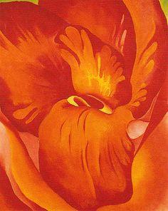 Georgia O'Keeffe Canna Red And Orange 1926