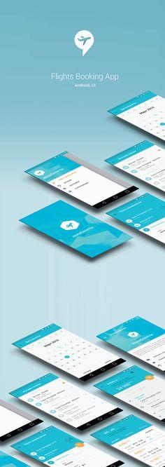 Complete Material Design UI for Flights Booking App