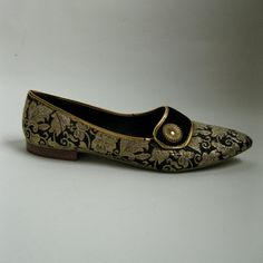 Vintage 1960s Brocade Slippers Shoes Velvet Flats by AlexSandras, $48.00