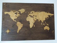 Scrollsaw map of the world