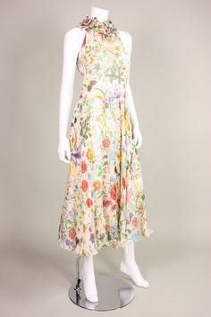 Gucci Vittoria Accornero Flora Dress with Ruffled Collar image 2
