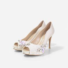 946b5110b80f Satin Wedding Shoes, Wedding Shoes Online, Wedding Heels, Satin Pumps, Peep  Toe