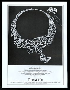 1982 Angela Cummings Butterfly Necklace Photo Tiffanys Jewelry Vintage Print Ad
