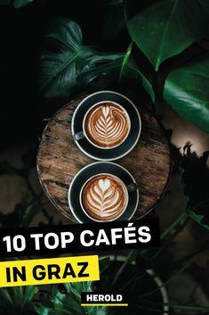 Wir präsentieren: die 10 besten Cafés in Graz. So gut der Kaffee in den eigenen vier Wänden schmeckt, so viel besser lässt er sich doch in einem gemütlichen Café genießen. #kaffeehaus #graz Chemex Coffee, Coffee Cafe, Coffee Shop, Drink Coffee, Cozy Coffee, Coffee Bar Home, Afri Cola, Green Mugs, Livros