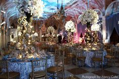 This Versailles-inspired reception room would be great for a Marie Antoinette themed wedding