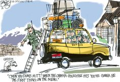 """""""The Obama-pocalypse""""  This Pat Bagley editorial cartoon appears in The Salt Lake Tribune on Friday, Nov. 9, 2012."""