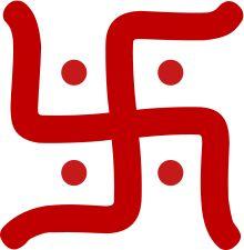 The swastika. In Buddhism it symbolises eternity.