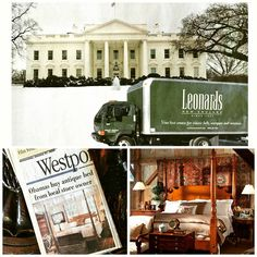 #TBT 2009 - delivery the #thewhitehouse! Yet another #unitedstatespresident to sleep in a #leonardsbed. We wonder who will be next???  Www.leonardsantiques.com