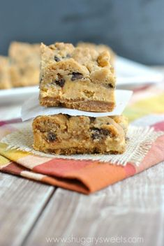 Pumpkin Chocolate Chip Cheesecake Bars: one of the most amazing pumpkin recipes this season!