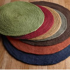 Round Jute Rug - The Company Store Round Kitchen Rugs, Round Rugs, Dining Room Shelves, Leaf Projects, The Company Store, Rug Company, Towel Rug, Natural Fiber Rugs, Circle Rug