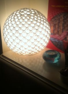picture crocheted granny sphere lamp