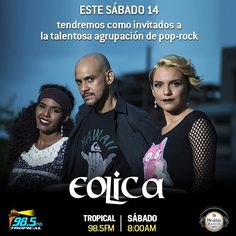 Este sábado será de rock en Miradas Radio. Tendremos en cabina a Eólica @eolica_oficial talentoso grupo de pop-rock. Sintonizanos por @radiotropical98.5 de 7 a 9AM.  #MiradasRadio #MiradasMagazine #Miradas #Anzoategui #Mochima #Lecheria Fotografía de @ainpaphotographic