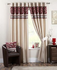 Coniston Ready Made Eyelet Lined Curtains Decor, Home, Burgundy Bedroom, Luxury Curtains, Curtains Bedroom, Curtains, Contemporary Bedroom, Curtain Decor, Minimalist Home