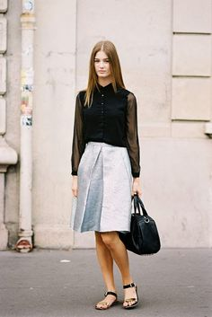 that skirt. #OphelieGuillermand #offduty in Paris.