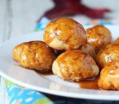 Sweet Potato Doughnut Bites with Chai Spice Caramel Drizzle