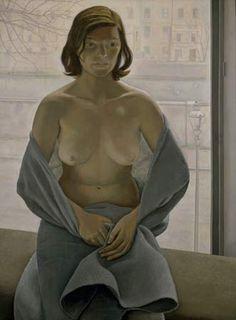 Lucian Freud, Girl in grey blanket-
