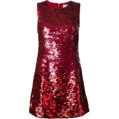 Saint Laurent sequined mini dress (231,430 PHP) ❤ liked on Polyvore featuring dresses, vestidos, red, short dresses, red silk cocktail dress, red dress, sequin mini dress, sequin cocktail dresses and red a line dress
