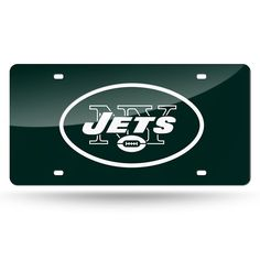New York Jets NFL Laser Cut License Plate Cover Colored