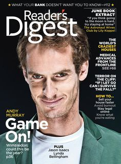 Reader's Digest Magazine cover, June 2013 issue featuring Andy Murray. To contact TWX Magazine Customer Service by phone about your Readers Digest (READERS) magazine subscription: 1- (877) 463-3032