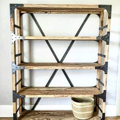 This is a BEAUTIFUL hand made Alder Book Shelf that will give any home or office the perfect touch of Vintage Industrial. it is also fully functional. Our mission at the White Shanty is to take the old and turn it into the beautiful. We are located just south of Salt Lake City Utah