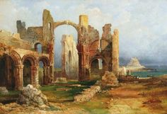 Lindisfarne Priory, Northumberland - The Largest Art reproductions Center In Our website. Low Wholesale Prices Great Pricing Quality Hand paintings for saleThomas Miles Richardson, Sr. Frame My Photo, Abandoned Churches, Art Uk, 2d Art, Large Art, Your Paintings, Art Reproductions, Art For Sale, Miles Richardson