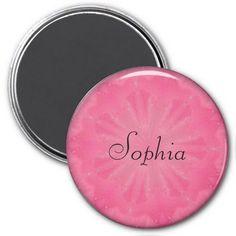 Pink Tulle Flower Refrigerator Magnet #zazzle #magnet #pink #tulle #flower