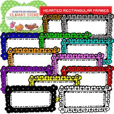 70 Colored Hearted Frames for Personal and Commercial Use