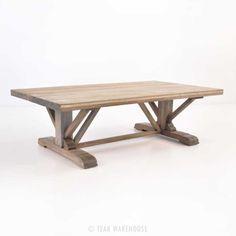 Kingsley Wide Reclaimed Teak Rustic Coffee Table-0