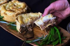 handheld lamb pies with mash potato topping