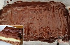 Tejfölös-pudingos kocka csokoládéval, az ellenállhatatlan édesség | TopReceptek.hu No Bake Cake, Rum, Tiramisu, Brownies, Cooking Recipes, Sweets, Beef, Baking, Food