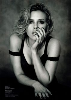Scarlett Johansson by Peter Lindbergh and styled by Nicoletta Santoro, in Dolce & Gabbana for Vogue China April 2011