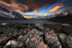 """""""Valley of the Ring"""" by Christian Lim. Mount Cook National Park, New Zealand - South Island. 2011."""