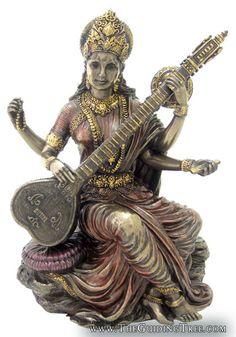 Saraswati ~ Hindu Goddess of Knowledge, Music  Art