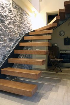 Interior steel wood stair