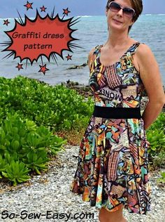 The Graffiti dress – free pattern