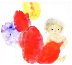 Chihiro Iwasaki. japanese illustration children flowers. japanese artist